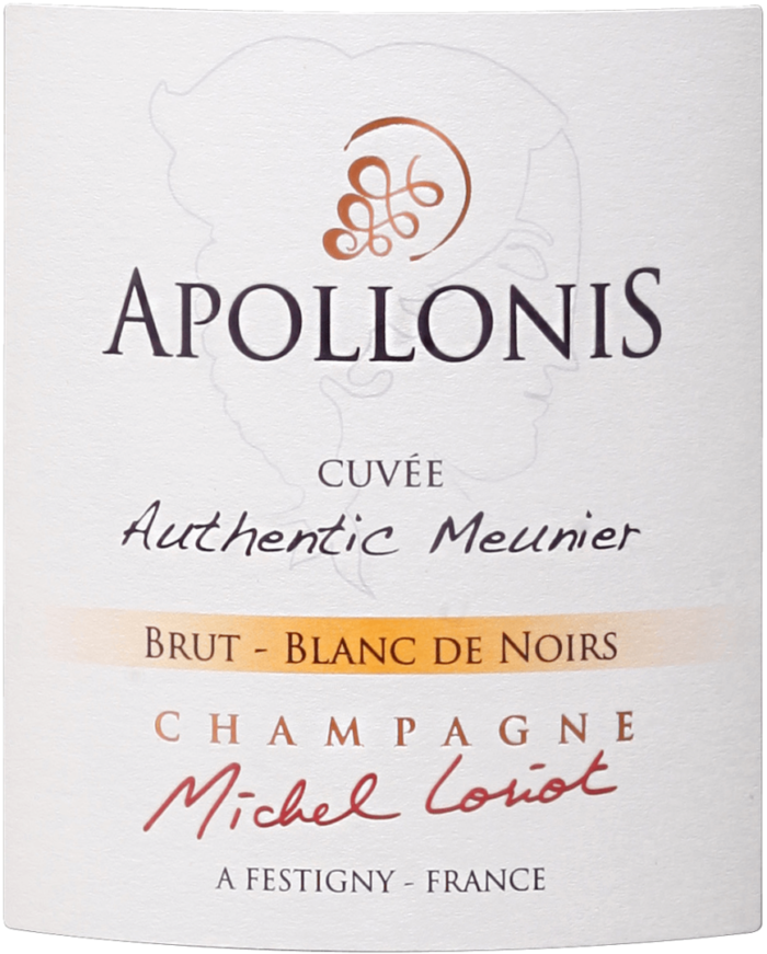 Champagne Apollonis.Authentic Meunier