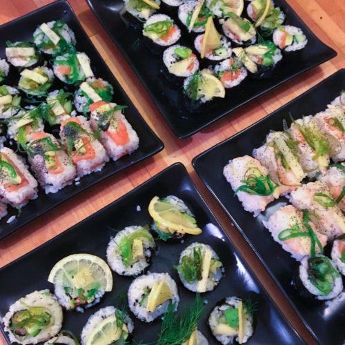 Avec des sushis